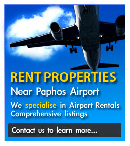 Rent properties near Paphos Airport With Paphos Lettings Agent Mr Rent